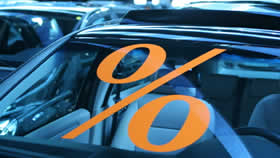 0 percent sticker on car windshileld