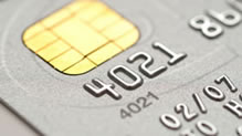 Portion of credit card
