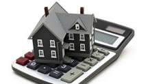 Gray house on calculator