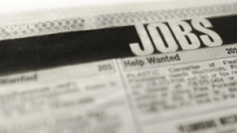 Newspaper classified section for jobs
