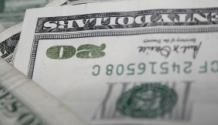 Upside down $20 bill