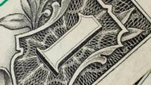 Closeup of dollar bill