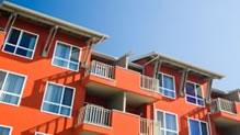 Orange condo building