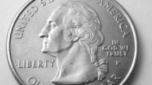Closeup of U.S. quarter
