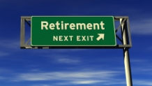 Highway sign with the words Retirement-Next Exit