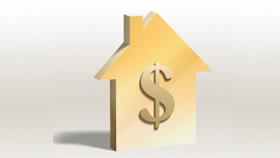 Dollar sign on house