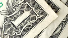 Closeup of dollar bill