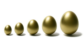 Five golden eggs, expecting a return on their 401(k)