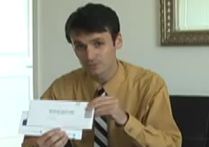 Man holding mail