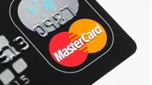 Closeup of a MasterCard logo