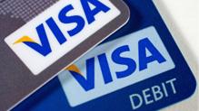 Visa credit, debit cards