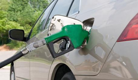 Gas pump in gas tank