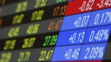 Portion of a stock trading board