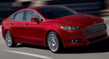 Red 2013 Ford Fusion