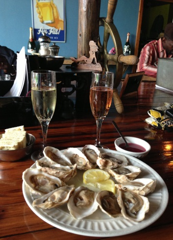 Oysters at the Bubbly Mermaid in Anchorage