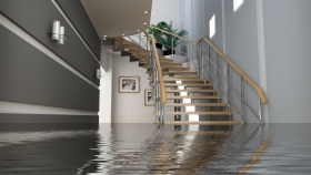 flooded staircase