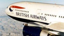 British Airways Boeing 777 in flight
