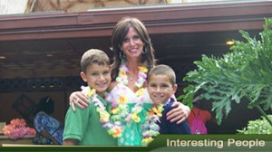 Lisa Tukalj and her boys, Weston and Bobby on a trip to Disney World.