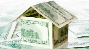 Bills shaped like house that's up for refinance