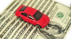 toy car on money