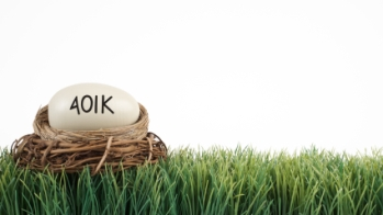 401(k) egg in a nest on grass
