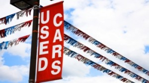 Flags and buying a used car banner