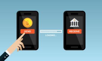 online banking app illustration